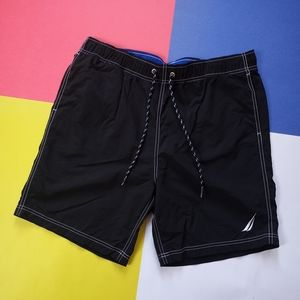 2019 Modern Nautica Embroidered Black Shorts